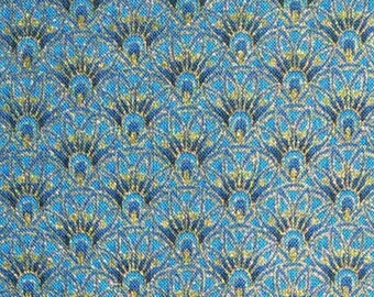 Gilding, blue background, Alexandria, 4593, Timeless Treasures, cotton, cotton quilt, cotton designer