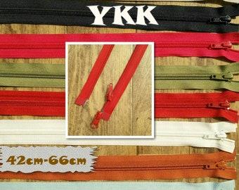 YKK, double slider, Zipper, SEPARABLE, nylon, 42cm, 45cm, 57cm, 58cm, 64c, 66cm, clothes, creation, ZG4266