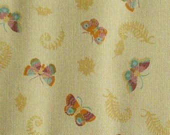 SALE, Butterfly, peach, 66180204, col 02, Autumn Impressions, Camelot Fabrics, cotton, cotton quilt, (Reg 3.76-21.91)