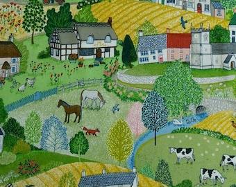 Village Life, 2290, Makower, cotton, cotton quilt, cotton designer
