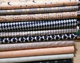 SALE, Bundle, 10 prints, Night Circus of Camelot Fabrics, (Reg 37.60-194.90)