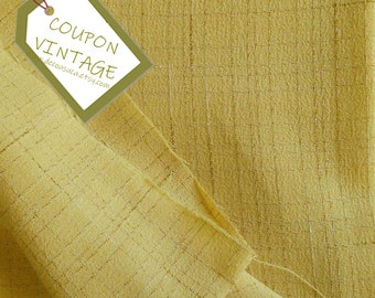 COUPON 200cm X 150cm, Fabric for clothing, Light Yellow, marron, 100% polyester, texture, light, NON stretch, for skirt, blouse, dress