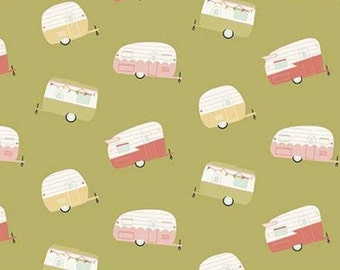Travel Trailer, OLIVE, 10682, Joy In The Journey, Riley Blake, fabric, cotton, quilt cotton