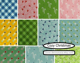 SALE, Bundle of 11 designs, Cozy Christmas, Riley Blake, 100% cotton, (Reg 41.36-214.39)