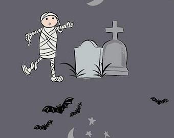 Halloween, CHARCOAL, #10570, fabric, cotton, quilt cotton- Spooky Hallow de Riley Blake