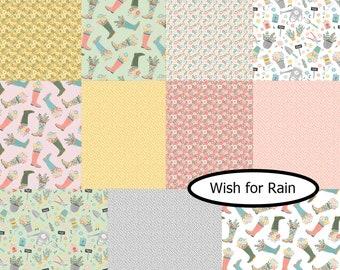 Bundle 11 FQ, Wish for Rain, Camelot Fabrics, 100% coton, (Reg 41.36-214.39)