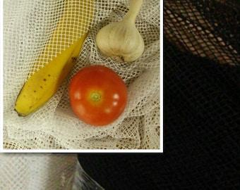 BLACK, WHITE, robust net, perfect for fruit or vegetable bags, net hook, knit, fruit net, vegetable net, 150cm
