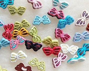 SALE, 25 Buttons MIXTES, 19mm, Butterfly, vintage, BF12