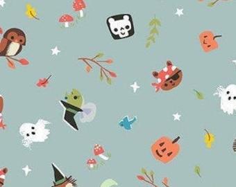 Halloween Fabric- Halloween, GRAY, Tiny Treaters, 10481, Riley Blake, fabric, cotton, quilt cotton