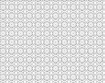 Flower, Silver metallic, white, Metallic Mixers, Benartex, 7720M, cotton, cotton quilt, cotton designer