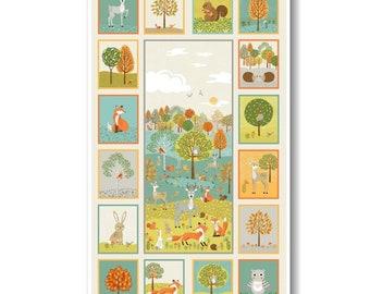 """Panel, 24""""X44"""", Forest, 2173, Makower, 100% Cotton, (Reg 13.15)"""