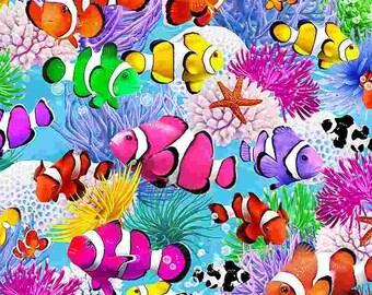 Clown fish, 7958, Timeless Treasures, cotton, cotton quilt, cotton designer