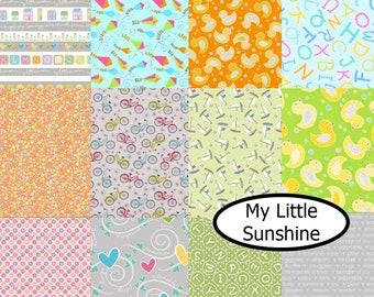 SALE, Bundle, 12  designs, My Little Sunshine, Benartex, 100% cotton, (Reg 45.12-233.88)