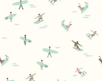 Surfers, Surboards, Cream, Riptide, 10303, Riley Blake, cotton quilt, cotton designer, (Reg 3.76-21.91)