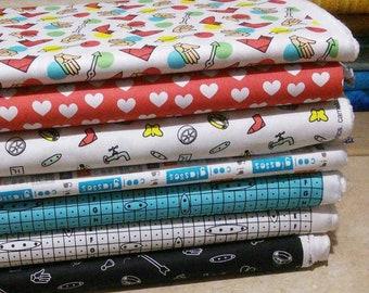 Bundle of 7 prints, Hasbro of Camelot Fabrics, Bundle, 1 of each print