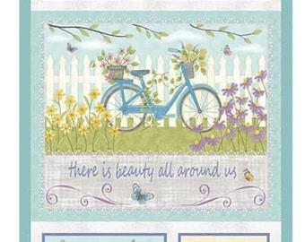 """Panel, 24""""X44"""", 06360, 99, Butterfly Garden, Benartex, 100% Cotton"""