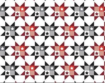 Stars, white, black, 21190553, col 02, Grill Master, Camelot Fabrics, cotton, cotton quilt, cotton designer