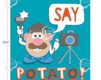 "Panel, Mr. Potato, 36""X44"", 95030106P, Hasbro, Camelot Fabrics"