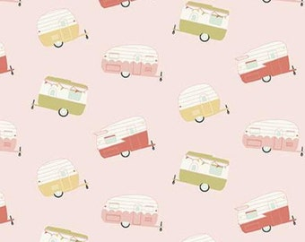 Travel Trailer, PINK, 10682, Joy In The Journey, Riley Blake, fabric, cotton, quilt cotton