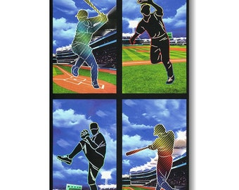 "Panel, 24""X44"", Baseball, 19132, Robert Kaufman, 100% Cotton"