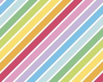 Diagonale, WHITE, 10892, Rainbow Fruit, Riley Blake, fabric, cotton, quilt cotton