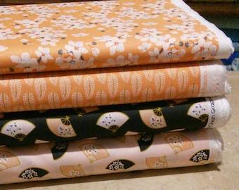 SALE, Bundle, 4 prints, Black Swan, Camelot Fabrics, Quilt cotton, (Reg 15.04-77.96)