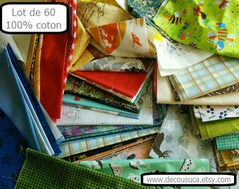 Quilt Fabric Bundle, 60 cottons, different colors, quilt cotton, quality quilting, photo as an example,  (Reg 225.60 -660.60)
