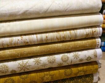 SALE, Bundle of 7 prints, Quilt Cotton, 1 of each print, (Reg 26.53-136.43)