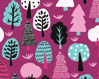 SALE, Forest in Purple, 31170102, col 03, Neighbourhood, Camelot Fabrics, 100% Cotton, (Reg 3.76-21.91)