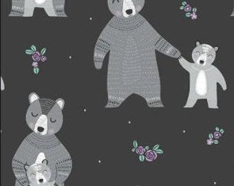 Ours, mère et enfant, Bear Hug, 21181501, col 02, Camelot Fabrics, 100% Cotton