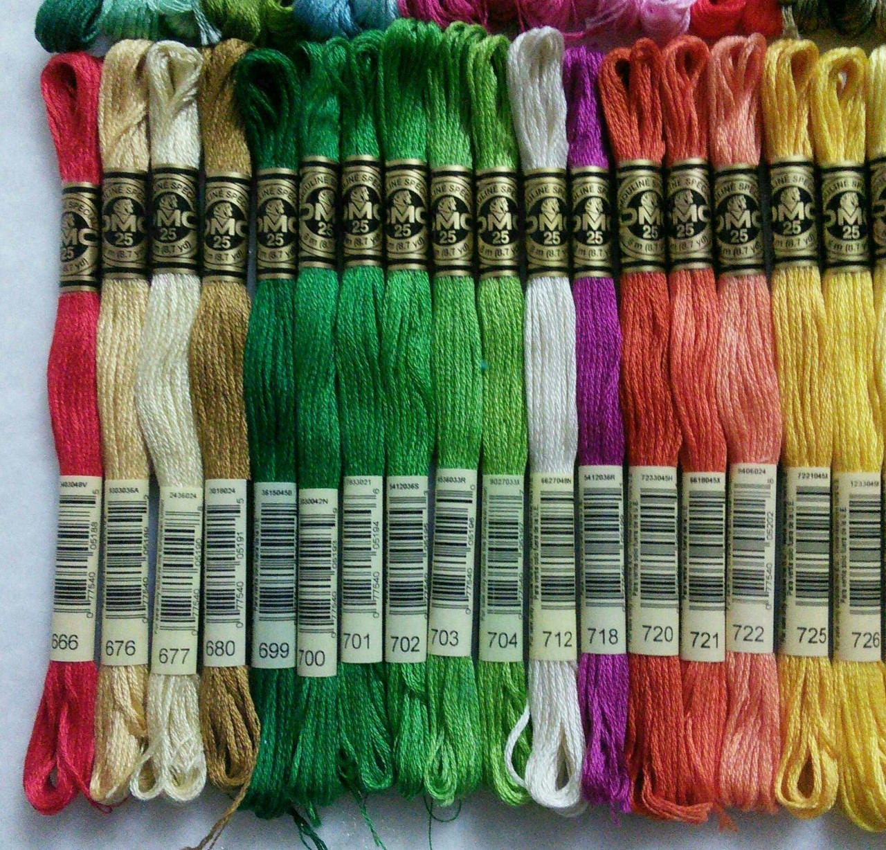 DMC, 561-740, Embroidery, thread, DMC, Mouliné 25, art 117 No. 25, 8 ...