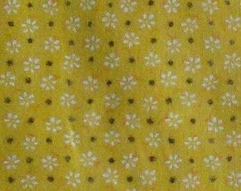 Fabric Yellow Floral, Dots Gold, 80526147, Floral Dots, cotton, cotton quilt, cotton designer