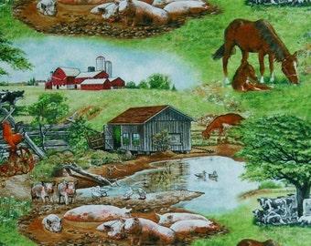 SALE, Farm Life, 8002, Elizabeth's Studio, 100% Cotton, (Reg 3.76-21.91)