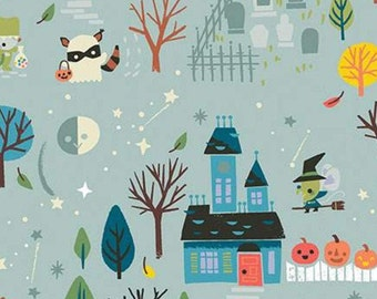 Halloween, GRAY, Tiny Treaters, 10480, Riley Blake, fabric, cotton, quilt cotton