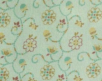 SALE, Scroll, sage, 66180202, col 02, Autumn Impressions, Camelot Fabrics, cotton, cotton quilt, cotton designer, (Reg 3.76-21.91)