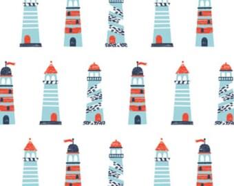 Lighthouse, Nautical, Camelot Fabrics, 89190602, col 01, cotton, cotton quilt, cotton designer