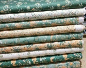 SALE, Bundle, 9 prints, Beachside Pretty, Camelot Fabrics, Cotton, quilt cotton, (Reg 33.84-175.41)