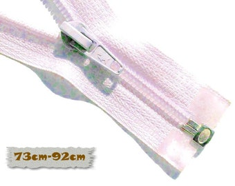 SEPARABLE, 73cm, 92cm, Light Lilac Zipper, 7E Slider, Clothing, ZS01