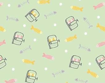 Fish, Sardine, tin of sardines, Meow and Forever, 7842, Riley Blake, cotton, cotton quilt, cotton designer