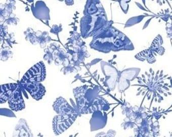 Butterfly Belle White, Maison des Feurs, #07903, 09, Benartex, 100% cotton, cotton quilt, cotton designer