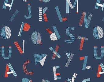 Lettres, Nautical, Camelot Fabrics, 89190609, col 03, cotton, cotton quilt, cotton designer