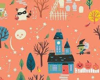 Halloween Fabric- Halloween, ORANGE, Tiny Treaters, 10480, Riley Blake, fabric, cotton, quilt cotton