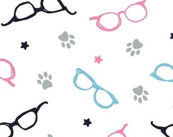 Glasses, 34180105, col 01, Cat Rules, Camelot Fabrics, cotton, cotton quilt, cotton designer
