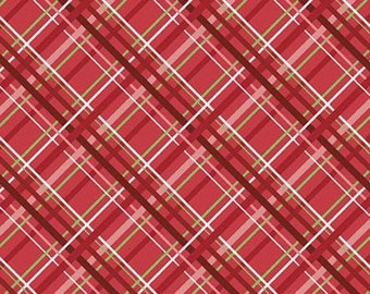 Snowed In, Riley Blake, Christmas fabric 100% cotton, scottie, #10816 RED