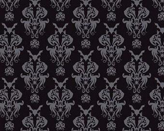 Halloween Fabric- BLACK, #10571, fabric, cotton, quilt cotton - Spooky Hallow de Riley Blake