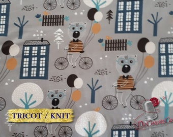 COUPON 45cm X 150cm, Poly / spandex jersey, knit, 95 polyester, 5 spandex, stretch fabric, garment fabric, 58/60 wide, Babyish, gray