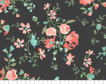 Fabric 100% cotton, Anglesey, 71170201, col 05, CHARCOAL - The Notthingham of Laura Ashley, Camelot fabrics