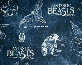 Harry Potter, Wizarding World, Fantastic Beast, 23900103, col 02, Camelot Fabrics, cotton, cotton quilt, cotton designer