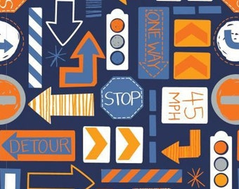 Traffic signs, 27190101, col 06, On the Move, Camelot Fabrics, cotton, cotton quilt, cotton designer