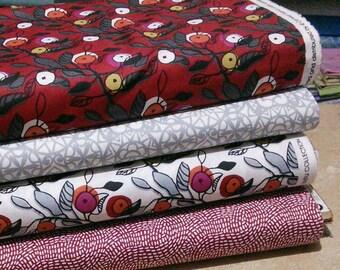 Bundle, 4 prints, Fruits, Lintu, Camelot Fabrics, Quilt cotton
